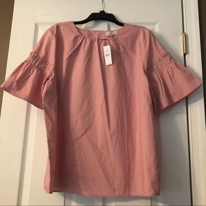 Loft Pink Short-Sleeved Shirt